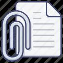 attach, clip, document, file