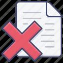 close, delete, document, file