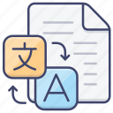 document, file, language, translate icon