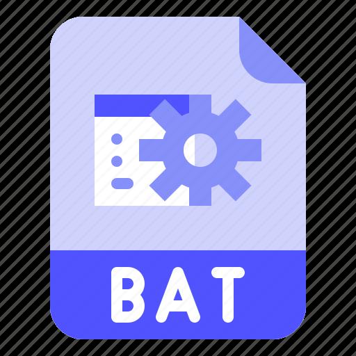 Bat, digital, extension, file, format icon - Download on Iconfinder