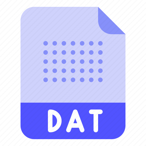 Dat, data, extension, file, format icon - Download on Iconfinder