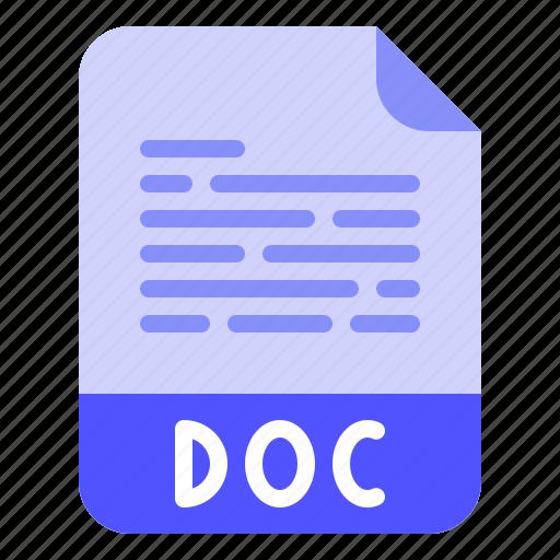 Digital, doc, extension, file, format icon - Download on Iconfinder