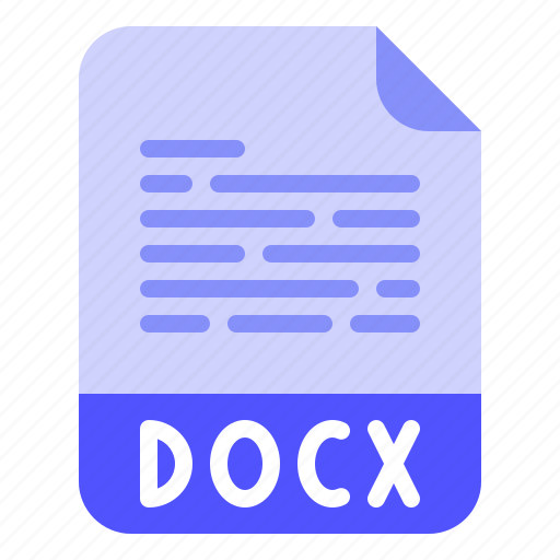 Document, docx, extension, file, format icon - Download on Iconfinder