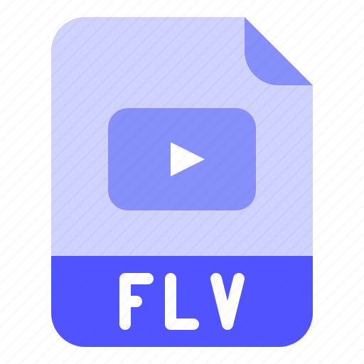Extension, file, flv, format, movie icon - Download on Iconfinder