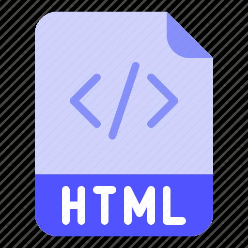 Digital, extension, file, format, html icon - Download on Iconfinder