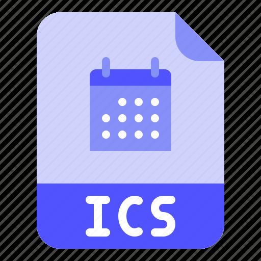 Calendar, extension, file, format, ics icon - Download on Iconfinder