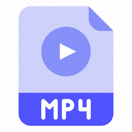 Extension, file, format, media, mp4 icon - Download on Iconfinder