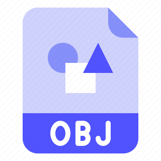 Extension, file, format, obj, object icon - Download on Iconfinder