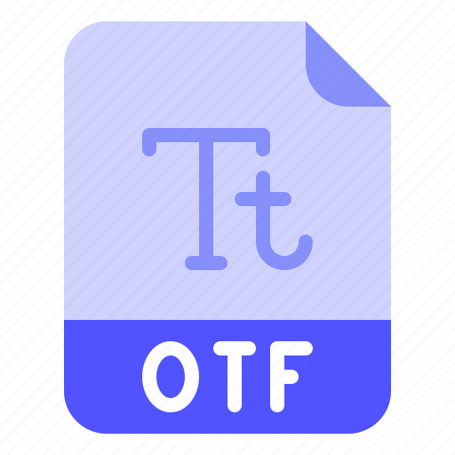 Extension, file, font, format, otf icon - Download on Iconfinder