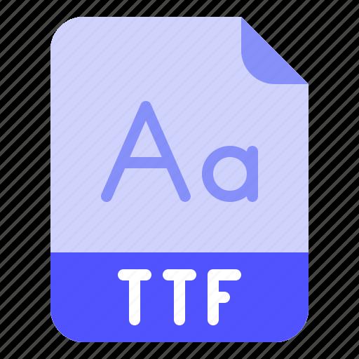 Extension, file, font, format, ttf icon - Download on Iconfinder
