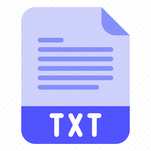 Extension, file, format, text, txt icon - Download on Iconfinder