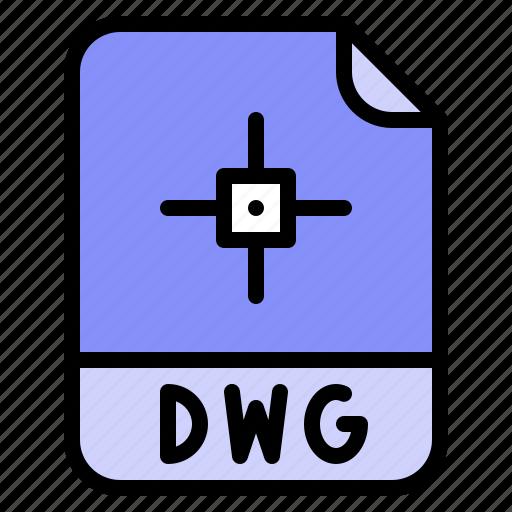 Digital, dwg, extension, file, format icon - Download on Iconfinder