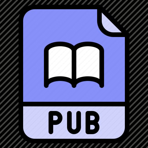 Digital, extension, file, format, pub icon - Download on Iconfinder