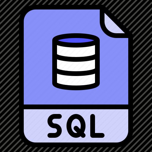 Digital, extension, file, format, sql icon - Download on Iconfinder