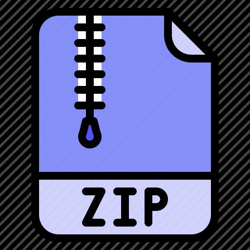 Digital, extension, file, format, zip icon - Download on Iconfinder