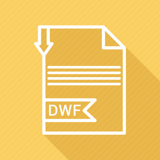 document, dwf, extension, file, type icon