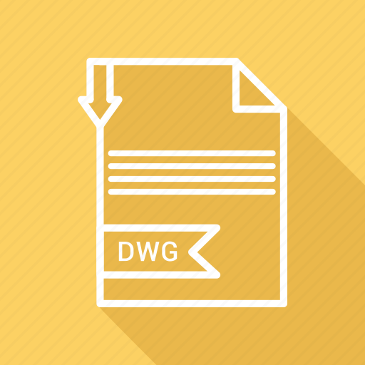 document, dwg, extension, file, type icon