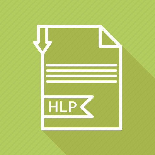 document, extension, file, hlp, type icon