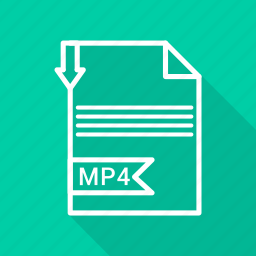 document, extension, file, mp4, type icon