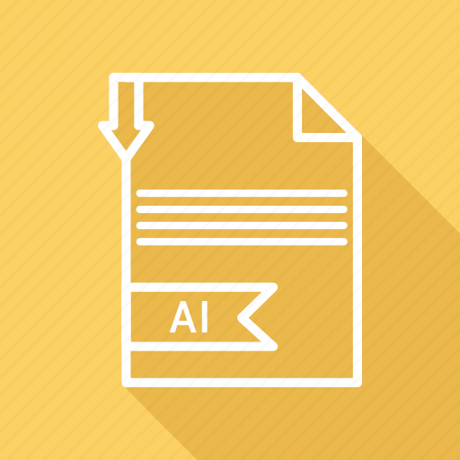 ai, document, extension, file, folder, format, paper icon