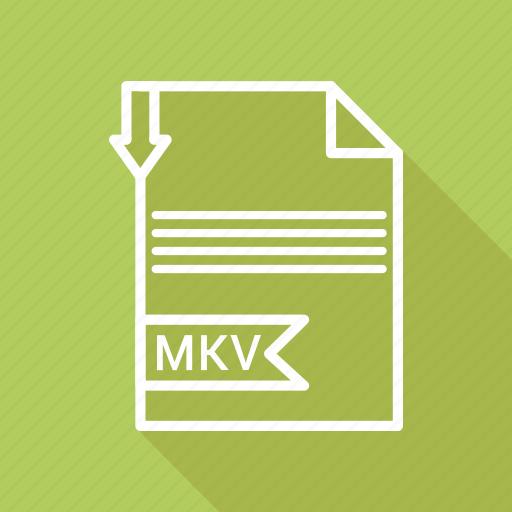 document, extension, file, folder, format, mkv, paper icon
