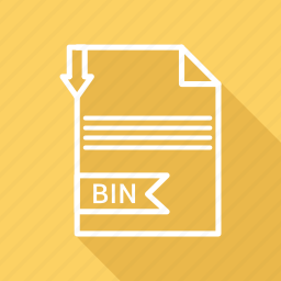 bin, document, extension, file, folder, format, paper icon
