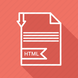 document, extension, file, folder, format, html, paper icon