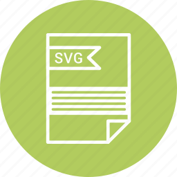 document, extension, file, svg file, type icon