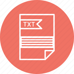 document, extension, file, format, txt, type icon