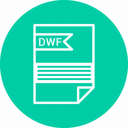 document, dwf, extension, file, format, type icon