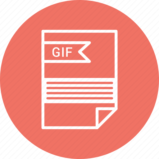 document, extension, file, format, gif, type icon