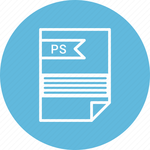 document, extension, file, format, ps, type icon