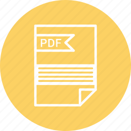 document, extension, file, format, pdf, type icon