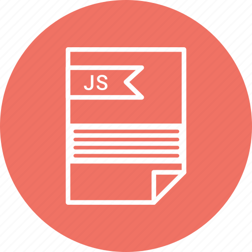 document, extension, file, format, js, type icon