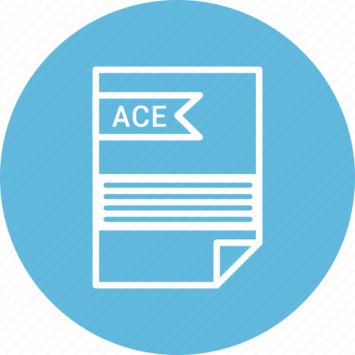 ace, document, extension, file, format, type icon
