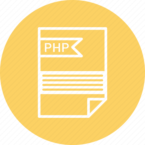 document, extension, file, format, php, type icon