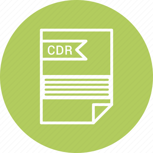 cdr, extensiom, file, file format icon