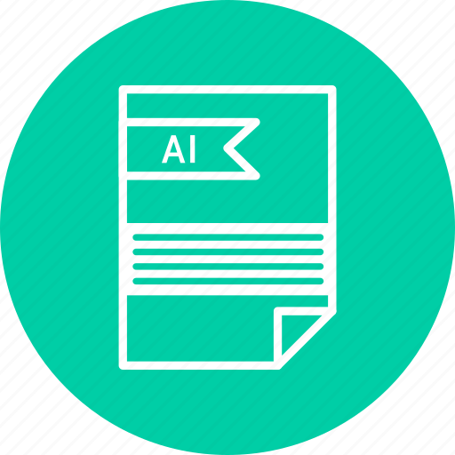 ai, document, extension, file, format, type icon