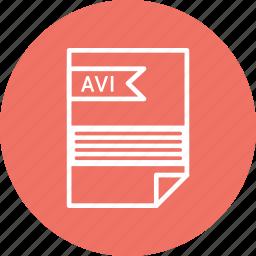 avi, extensiom, file, file format icon