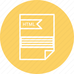 extensiom, file, file format, html icon