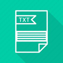 document, extension, folder, format, paper, txt icon