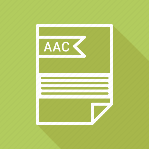 aac, document, extension, folder, format, paper icon