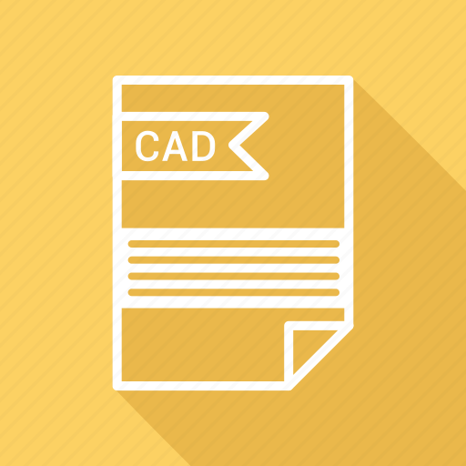 cad, document, extension, folder, format, paper icon