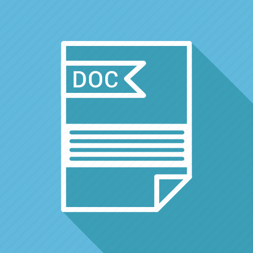 doc, document, extension, folder, format, paper icon