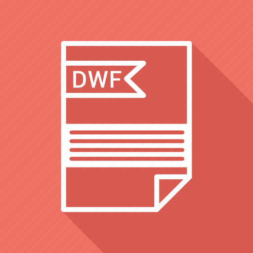 document, dwf, extension, folder, format, paper icon