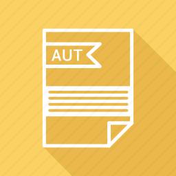 aut, document, extension, folder, format, paper icon