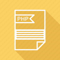 document, extension, folder, format, paper, php icon