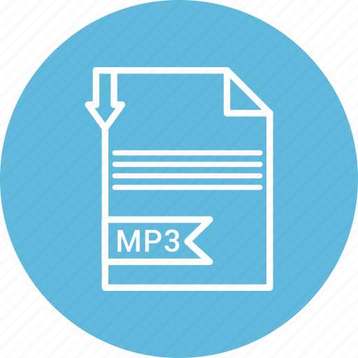document, file, format, mp3, type icon