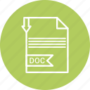 doc, document, file, format, type icon