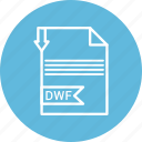 document, dwf, file, format, type icon